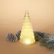 Christmas 12-Inch Lighted Handblown Glass Décor Tree