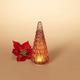 Christmas 9.5-Inch Lighted Handblown Glass Décor Tree