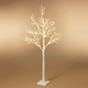 Christmas 70.8-Inch Icy White Tree with 200 Superbright LED Lights