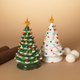 Christmas Assorted Battery Operated Musical Dolomite Trees (Set of 2)