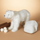 Christmas Artificial Fur Polar Bear Cub with Electric Moving Head
