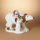 Christmas 20-inch Magnesium Polar Bear with Two Cubs