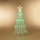 Christmas 59-inch Neon Green LED Green Christmas tree