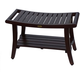 DecoTeak Harmony Teak Wood Shower Bench with LiftAide Arms