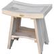 CoastalVogue Satori Teak Wood Shower Bench with Shelf