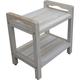 CoastalVogue Eleganto Teak Wood Shower Bench with LiftAide Arms