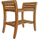 EcoDecors  Symmetry Teak Wood Shower Bench with LiftAide Arms