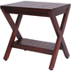 DecoTeak Obliquity Teak Wood Shower Bench with Shelf