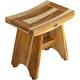 EcoDecors  Serenity Teak Wood Shower Bench