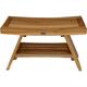 EcoDecors  Serenity Teak Wood Shower Bench with Shelf