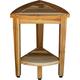 EcoDecors  Oasis Teak Wood Corner Shower Bench with Shelf