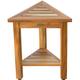 EcoDecors  FlexiCorner Teak Wood Triangular Stool with Shelf