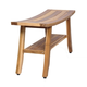 EcoDecors  Satori Teak Wood Shower Bench with Shelf