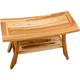 EcoDecors  Satori Teak Wood Shower Bench