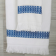 Ivy Luxury Bosphorus Jacquard Towel Set of 2 (Navy Blue)