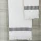 Ivy Luxury Bosphorus Jacquard Towel Set of 2 (Storm Gray)