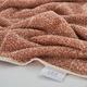 Ivy Luxury Hitit Jacquard Yarn Dyed Turkish Bath Towels Pack of 3 (Terra/Ecru)