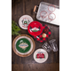 Christmas TarHong Vintage Lodge Cabin Salad Plate (Set of 6)