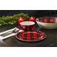 Christmas TarHong Vintage Lodge Buffalo Check Bowl (Set of 6)