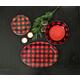 Christmas TarHong Vintage Lodge Buffalo Check Oval Platter