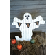 Halloween Painted Wooden Ghost with Boo Pennant