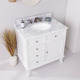 Southern Enterprises Bazely Bath Vanity Sink with Marble Counter Top