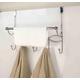 Over-the-Door Hanging Rack with Towel Bar
