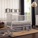 Davinci Jenny Lind Stationary Crib in Fog Gray