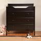Davinci Jayden 3-Drawer Changer Dresser in Ebony