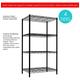 Multipurpose Four Tier Multipurpose Wire Shelf