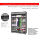 Contemporary Free Standing Storage Closet with Shelves