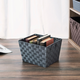 Contemporary Polyester Large Woven Strap Open Bin