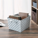 Contemporary Polyester Extra Large Woven Strap Open Bin