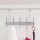 Over-the-Door Five Dual Hook Over the Door Hanging Rack