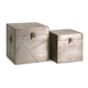 Home Accents Aluminum Clad Boxes (Set of 2)
