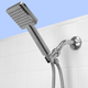 Home Accents Ultimate ShowerBliss Square Handheld Single Function Shower Massager