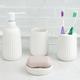 Home Accents Contour 4 Piece Ceramic Bath Accessory Set