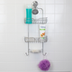 Home Accents Sleek Chrome Plated Steel Shower Caddy