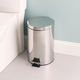 Home Accents 12 Liter Polished Stainless Steel Round Waste Bin