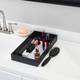 Home Accents Mirrored Leather Vanity Tray