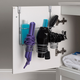 Home Accents 4 Compartment Over the Cabinet Hair Care and Styling Tool Multi-Purpose Steel Storage Organizer