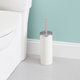 Home Accents Embossed Ivory Steel Toilet Brush
