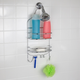 Home Accents Chrome Plated Steel Flat Wire Shower Caddy
