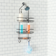 Home Accents Classic 2 Shelf Shower Caddy with Bottom Hooks and Center Soap Dish Tray