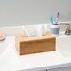 Home Accents Rectangle Bamboo Tissue Box Cover