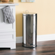 Home Accents 30 Liter Polished Stainless Steel Round Waste Bin