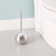 Home Accents Hide-Away Toilet Brush with Round Stainless Steel Hygienic Holder