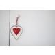 Kalalou Antique Brass And Red Heart Door Hanger