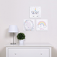 Trend Lab Rainbow Unicorns Canvas Wall Art 3 Pack