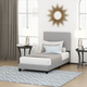 Furinno Twin Laval Button Tufted Bed Frame